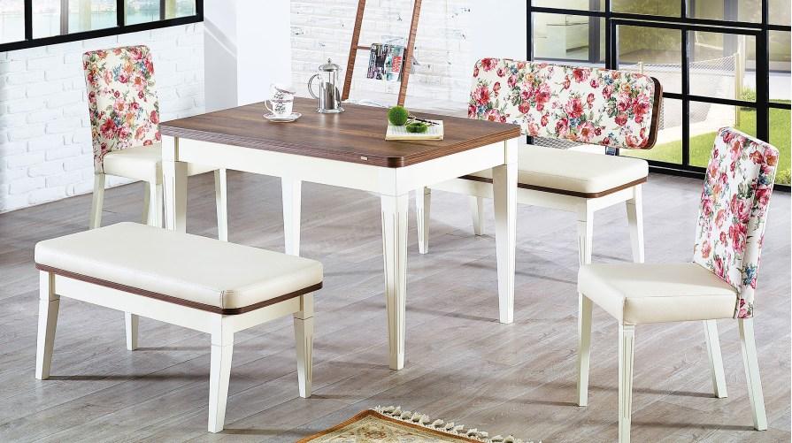 Lara Bank Mutfak Masa Sandalye Takımı
