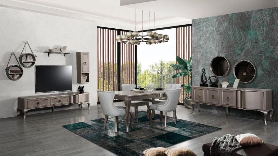 Lexus Wooden Yemek Odası Parlak