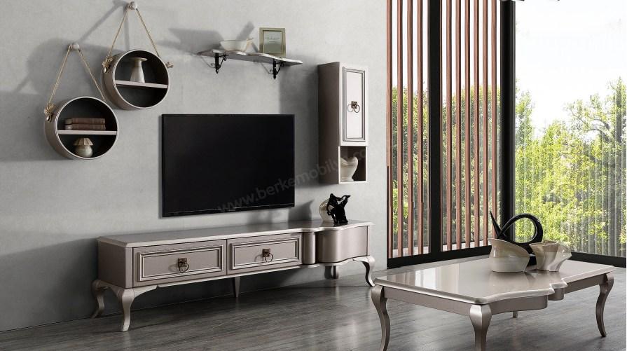 Lexus Wooden Tv Ünitesi Parlak
