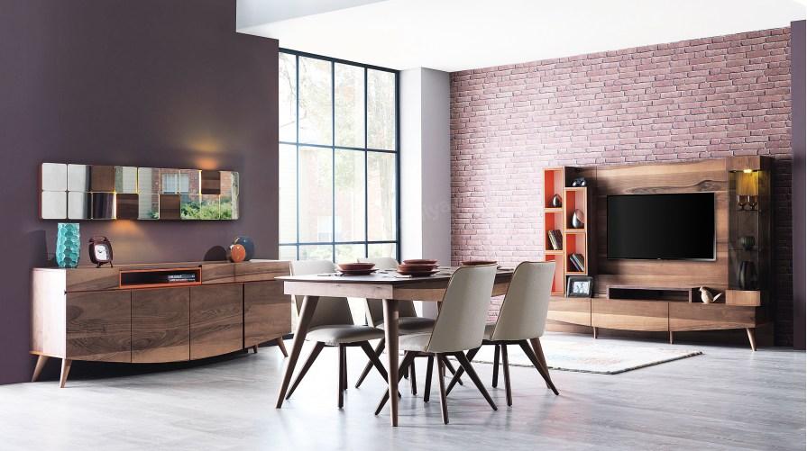 Lexus Ahşap Yemek Odası Seti
