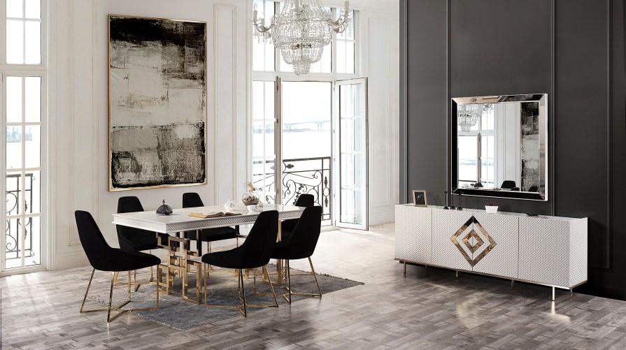 Liona Luxury Yemek Odası Takımı