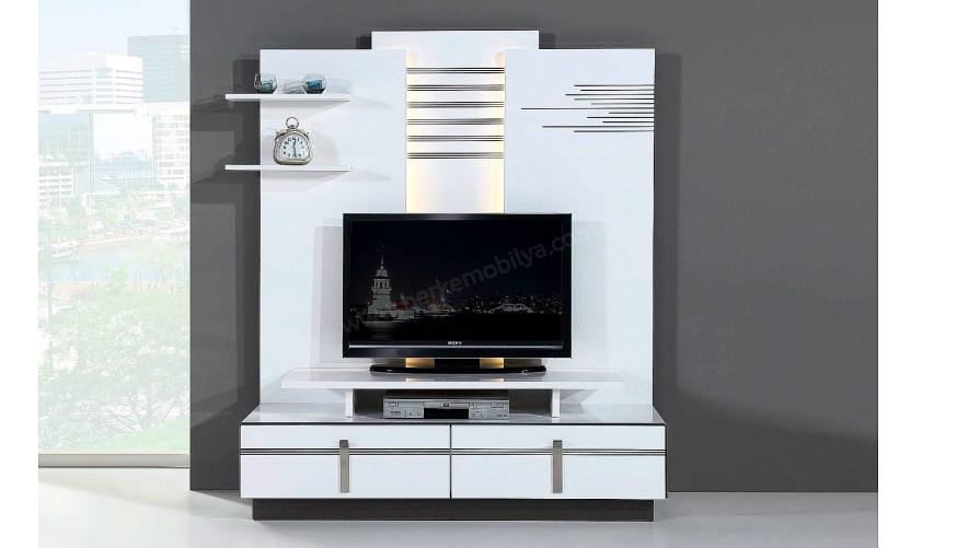 Elobi Beyaz Tv Sehpası