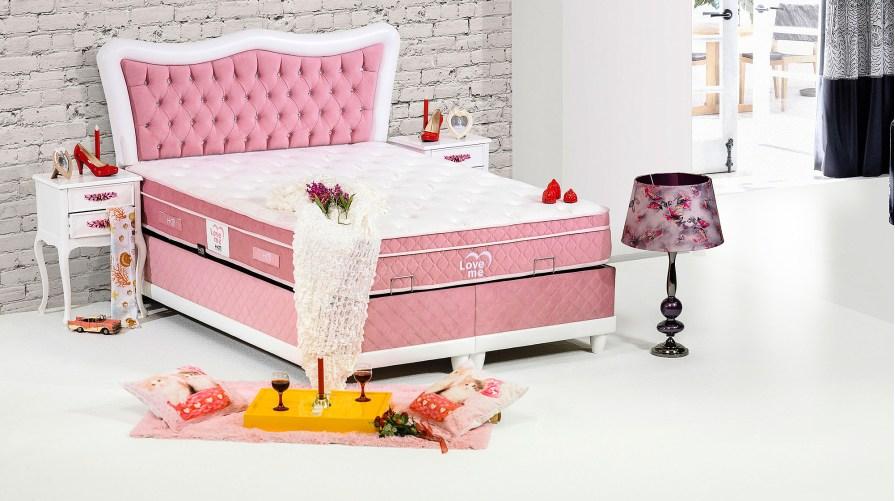 Miray Baza Love Me Yatak Bahar Başlıklı Set