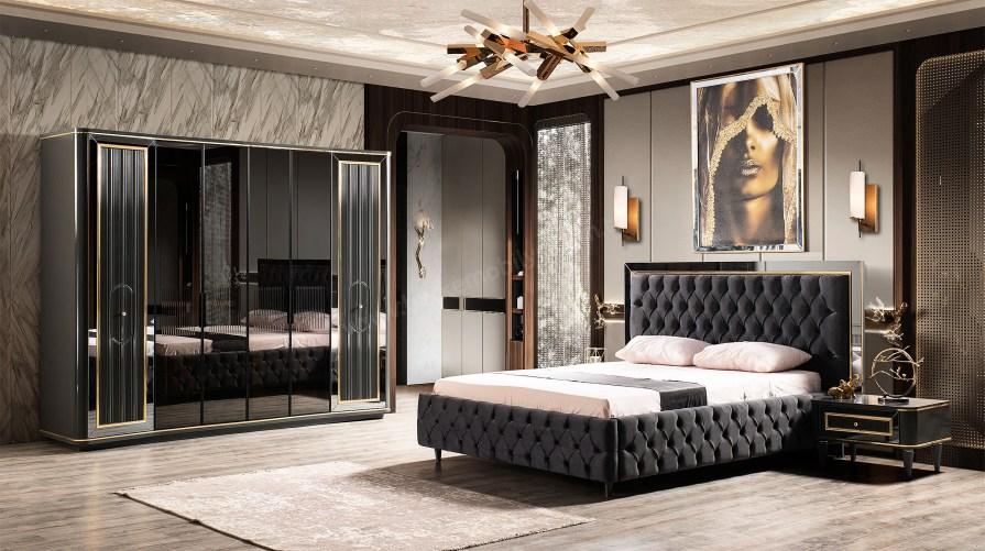 World Luxury Siyah Yatak Odası Takımı