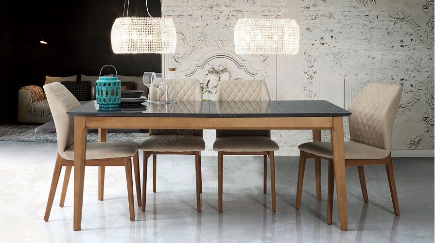 Viole Antrasit Yemek Masası Sandalye
