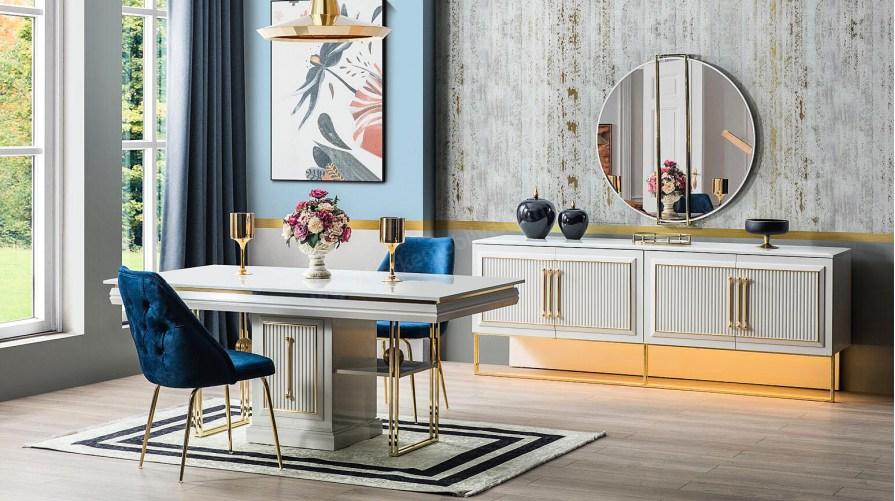 Mina Luxury Yemek Odası Takımı