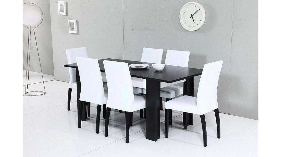Moda Siyah Yemek Masası Takımı (Açılır)