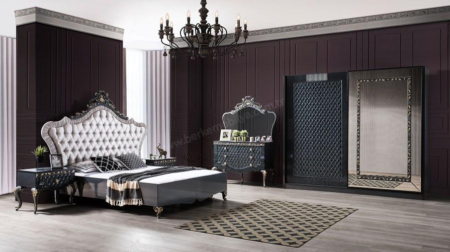 İnci Lüks Füme Yatak Odası Takımı
