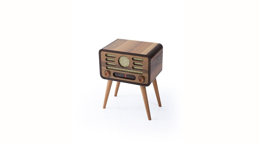 Nostalji Walnut Radyo Yan Sehpa