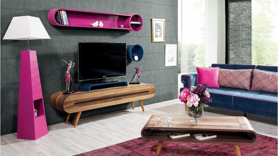 Colour Orkide Ahşap Tv Ünitesi