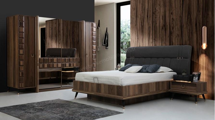 Paris Ceviz Yatak Odası Takımı