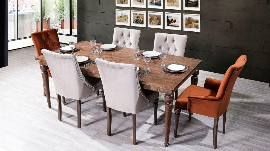 Belinda Pars 1 Yemek Masası Sandalye Kollu Sandalye