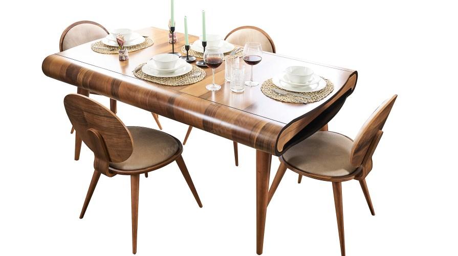 Power Ahşap E03 Yemek Masası Vegas Sandalye