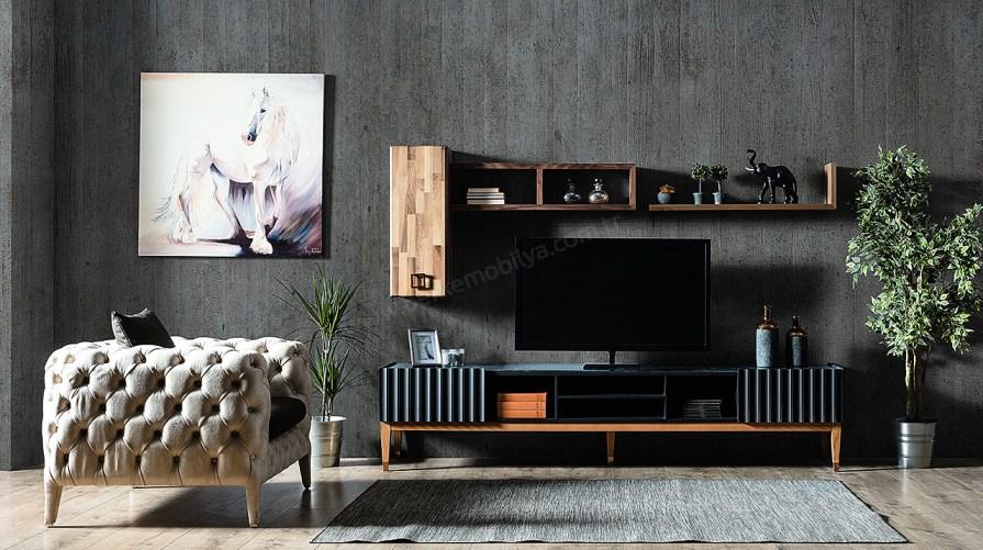 Prada Siyah Tv Ünitesi