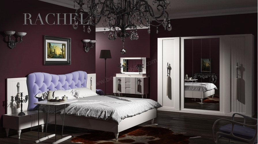 Rachel Avangarde Yatak Odası Takımı Beyaz