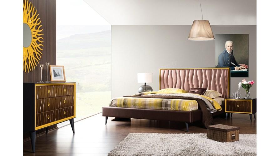 Retro Modern Yatak Odası Ceviz