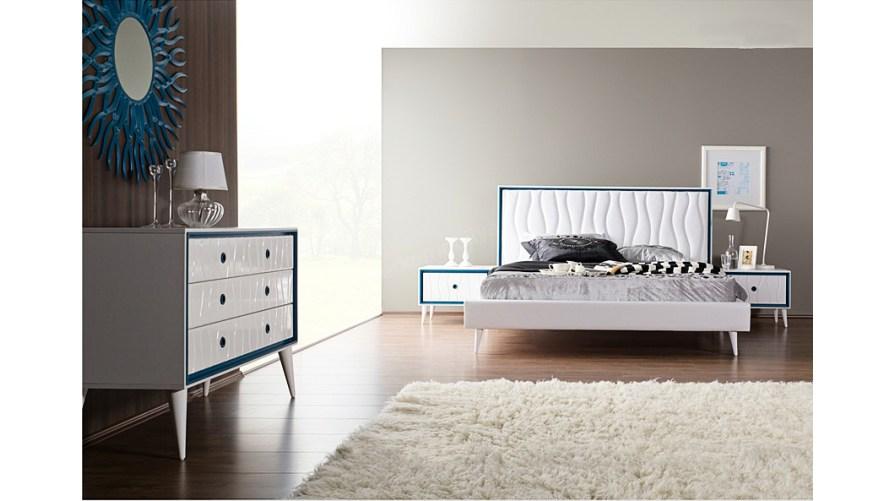 Retro Modern Yatak Odası Beyaz outlet