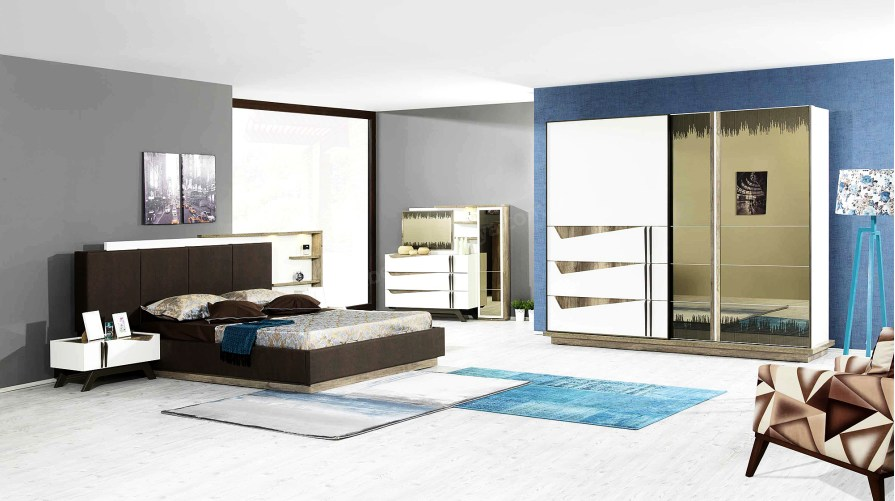 Safir Modern Yatak Odası Takımı Outlet