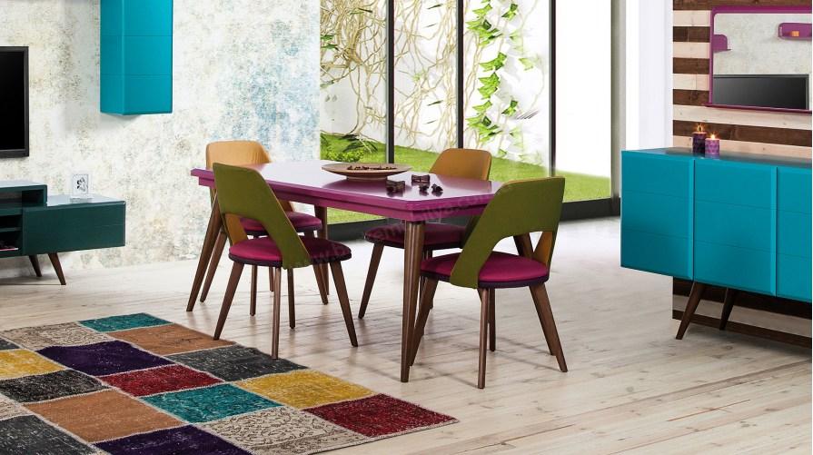 Armoni 1 Yemek Masası Naturel Tora Sandalye