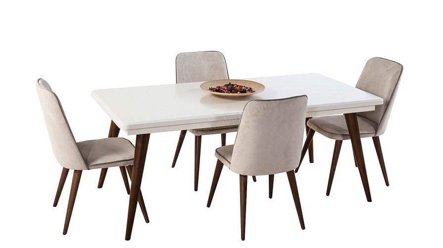 Armoni 2 Yemek Masası Naturel Salvo Sandalye