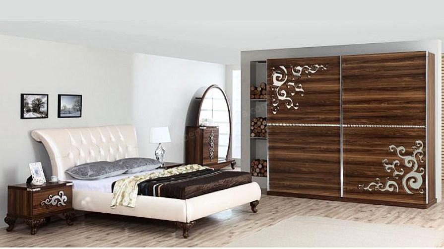 Sedef Avangarde Ceviz Yatak Odası