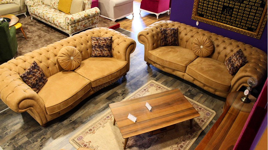 Sofa Chester Nubuk Koltuk Takımı OUTLET