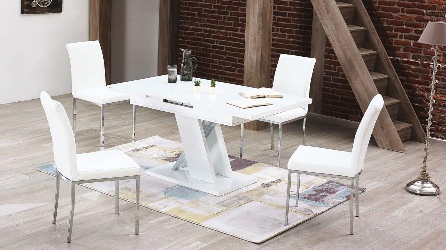 Solid Açılır Masa 4 İmge Sandalye Set