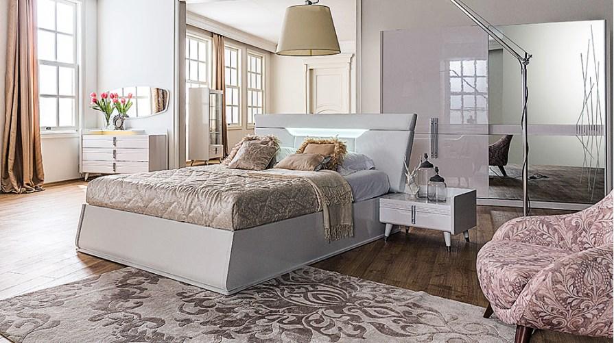 Ahsen Beyaz Yatak Odası Takımı