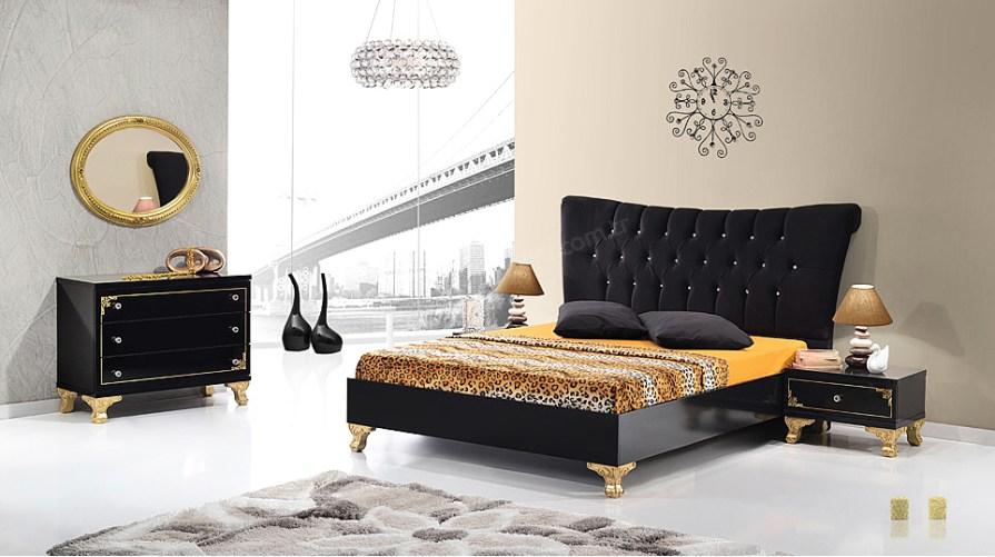 Vezir Siyah 2kp Yatak Odası Takımı