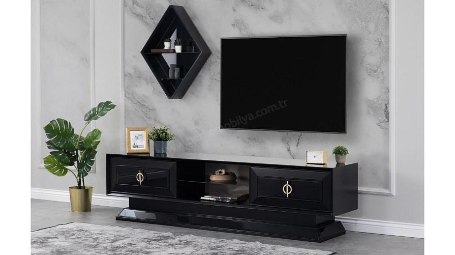 Teneke Siyah Tv Sehpası