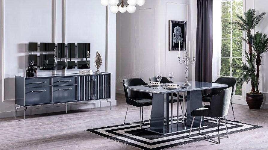 Titanyum Yemek Odası Takımı