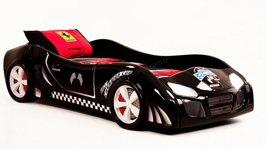 Turbo Power Arabalı Karyola Siyah