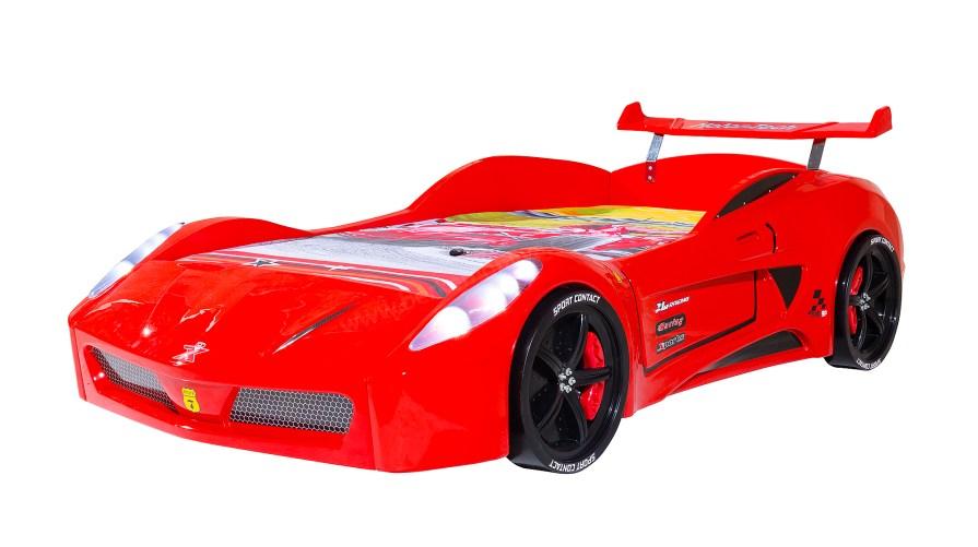 Turbo S V7 Standart Kırmızı Arabalı Karyola