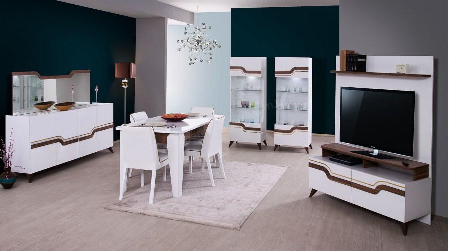 Beyaz Venedik Yemek Odası Takımı