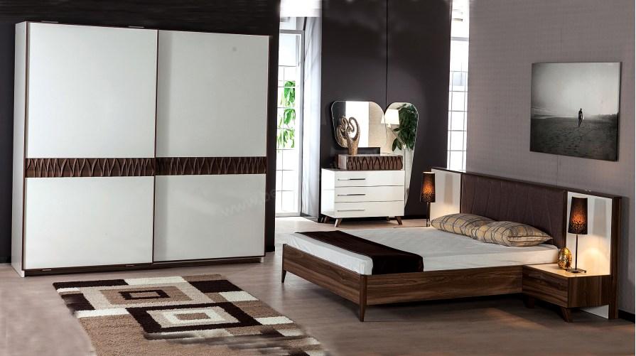 Ekru Modern Yatak Odası Takımı