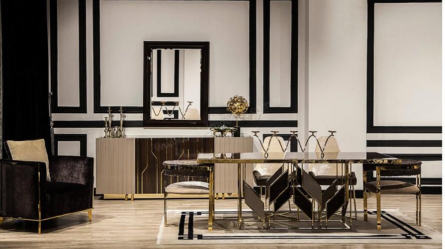 Vitra Luxury Yemek Odası Takımı