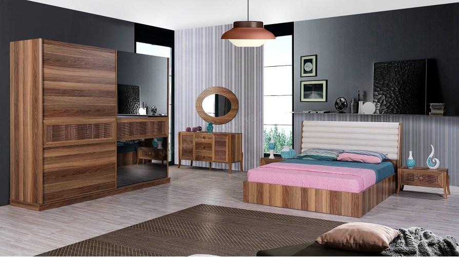 İnfinity Retro Ceviz Yatak Odası