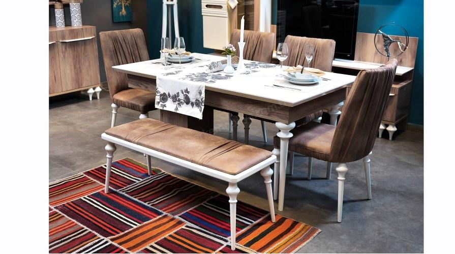 Yalın Yemek Masası Sandalye Bench
