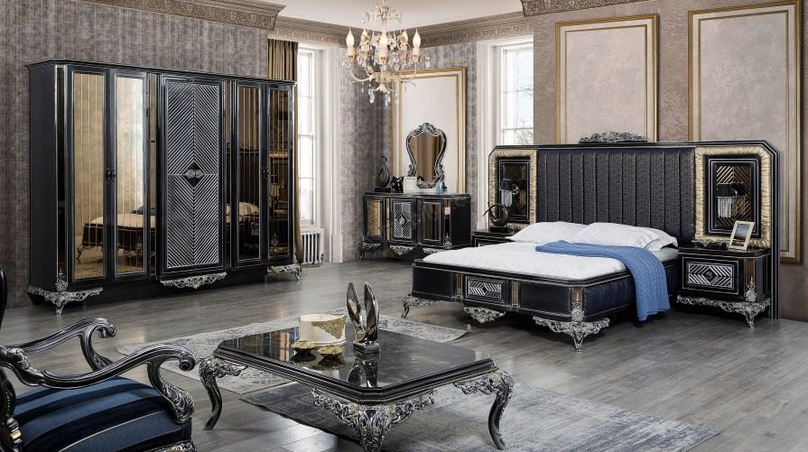 Siyah İnci Luxury Yatak Odası Takımı