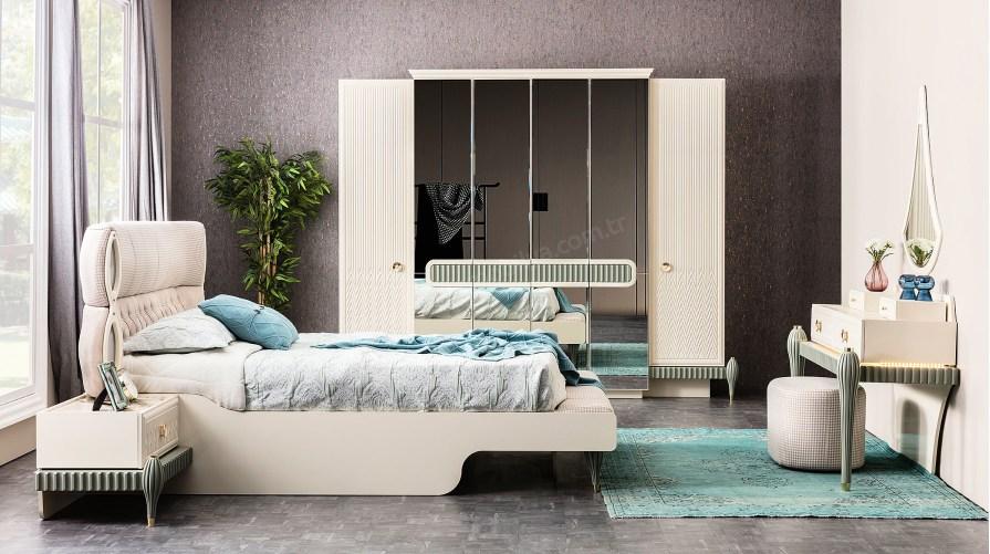 Zümrüt Yeşil Yatak Odası Takımı