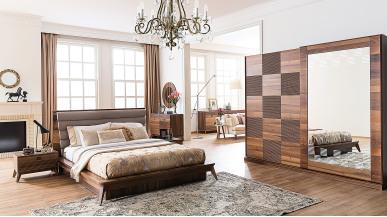 Almoda Ceviz Modern Yatak Odası