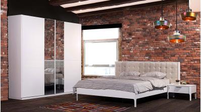 Orkide Ahşap Yatak Odası Takımı Beyaz