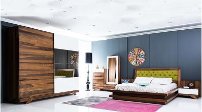 Lotus Ahşap Yatak Odası Takımı
