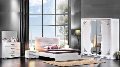 Stil Eko Beyaz Yatak Odası Takımı