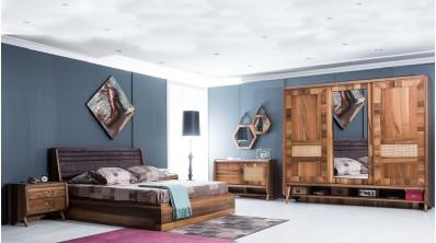 Pera Ahşap Yatak Odası Takımı