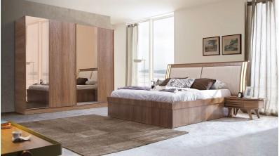 Cast Modern Ceviz Yatak Odası Takımı