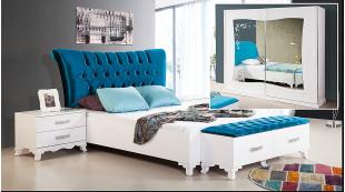 Nüans Beyaz Avangarde Yatak Odası